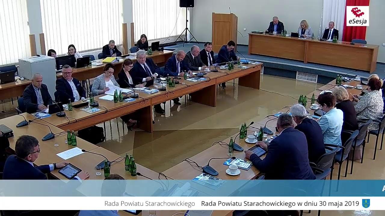IX Sesja Rady Powiatu w Starachowicach 30.05.2019r.