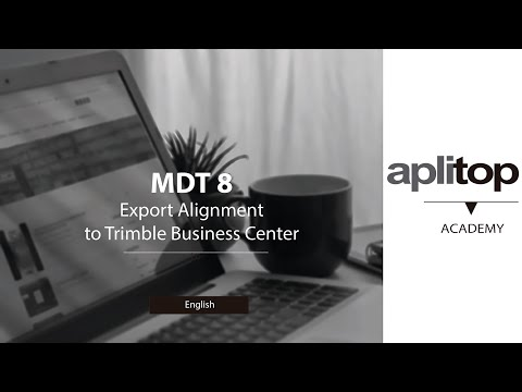 MDT8 Export Alignment to Trimble Business Center