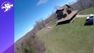 Cabin on a Hill - FPV Freestyle Drone - Messing with Higher Roll Rates. Pitch rate worked out ok.