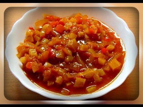 салат на зиму из помидоров и кабачков