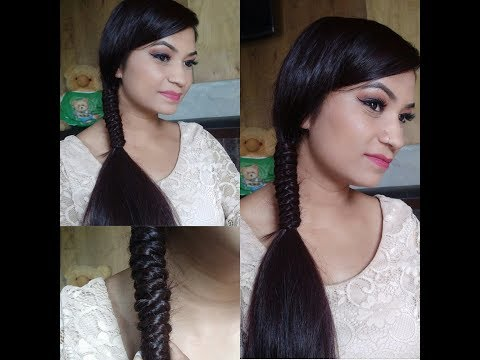 Side Knotted Ponytail//Easy Hairstyle //Hairstyle For Medium to Long Hair
