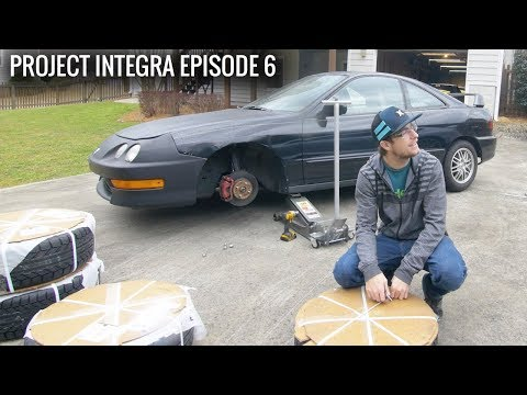 ACURA INTEGRA PROJECT Ep.6 - New Wheels and Stance!