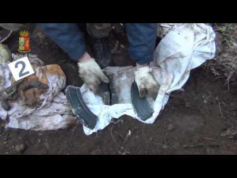 Le armi della mafia gelese ritrovate e Busto Arsizio