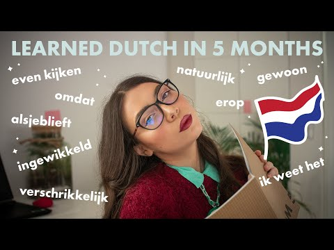 HOW I'VE LEARNED DUTCH IN 5 MONTHS   How to Learn Dutch on Your Own FAST