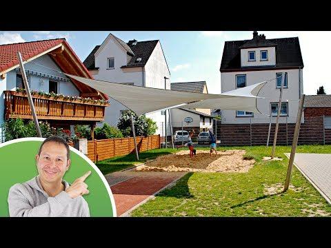 Trapez-Sonnensegel | wasser- und luftdurchlässig -TEX - 5x4x4x4m in Elfenbein (940020) | Lager