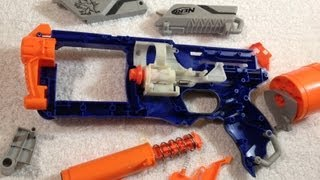MOD GUIDE: Nerf Elite Strongarm – 100ft+ w/ spring replacement, rear loading, and more