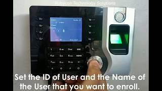 Realand AC071 / AC081 Register new User in Biometrics Device Tutorial