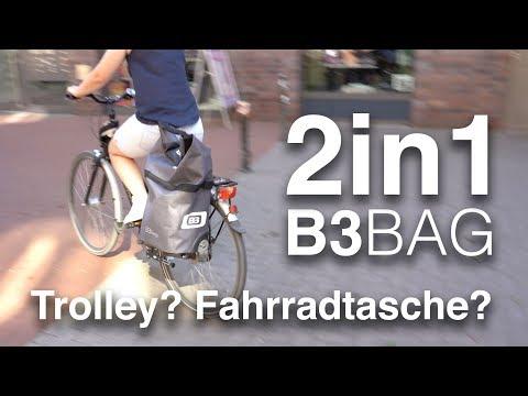 B&W B3 Bag: Trolley + wasserdichte Fahrrad-Gepäckträgertasche, Trunk Bag. Schicker Hackenporsche!
