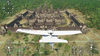 Angkor Wat in Microsoft Flight Simulator 2020