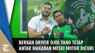 Driver Ojol yang Antar Go-Food meski Motor Dicuri Dapat Rp90 Juta dan Motor Baru