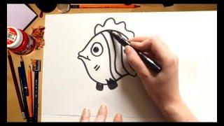Como dibujar un Pez - dibujos para niños