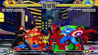 Marvel Comics Party 4v4 Patch MUGEN 1.0 Battle!!!