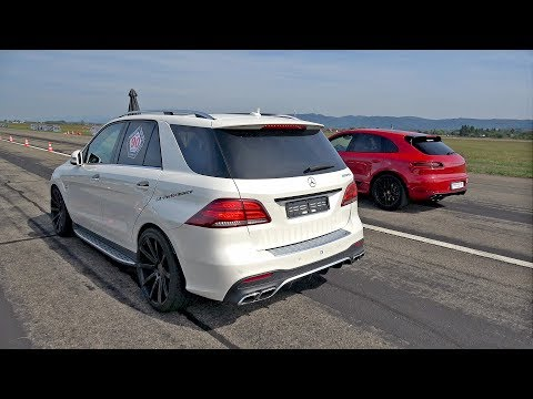 800HP Mercedes-Benz ML63 AMG LA Performance vs Porsche Macan