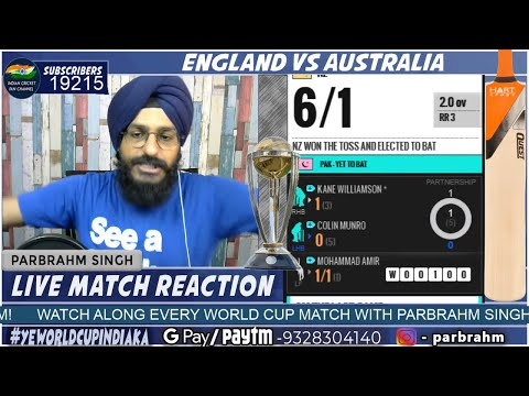 Pakistan Vs New Zealand Live Match | CWC19 | PAK VS NZ | Live Score and Reaction