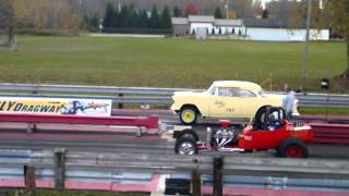 preview picture of video 'Ubly Dragway Bad Banana 55 chevy Vs. altered t bucket'