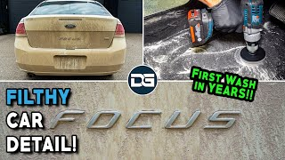 Super Cleaning a NEGLECTED Ford Focus! | Insane First Wash Detailing TRANSFORMATION!