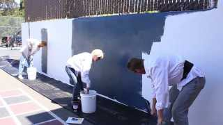 Chalkboard Finish Over Any Cement Or Concrete Wall Complete Video