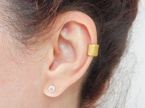 DIY Gold Ear Cuffs