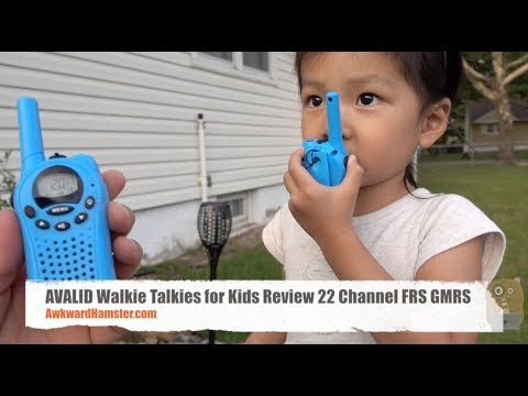 AVALID Walkie Talkies for Kids Review 22 Channel FRS GMRS