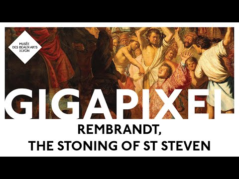 Rembrandt The Stoning of St Steven, in gigapixel