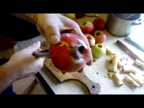 КАк быстро вынуть сердцевину яблока