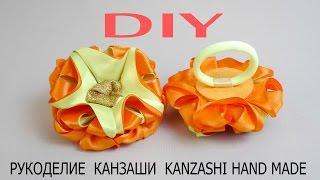 Резиночки-Лисички. Оригинальные канзаши резиночки для девочек своими руками. DIY/Рукоделие/МК