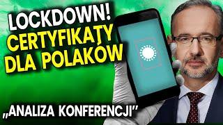 Lockdown w Całej Polsce! Certyfikaty dla Polaków! – Analiza Konferencji Ministra Zdrowia Wielkanoc