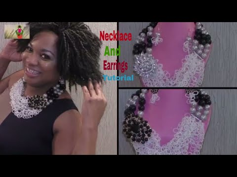 Tutorial on how to make Necklace and Earrings for beginner