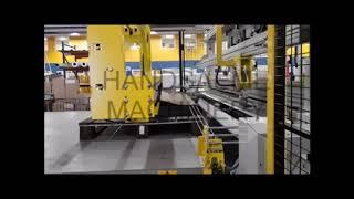 Cutting and stapling machine