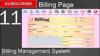 11. Billing Management System in java - Billing Page (JFrame, Mysql Database, Netbeans IDE)
