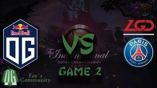 OG vs PSG.LGD - Game 2 - The International 2019 - Main Event.