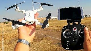 GoolRC T32 Folding 720p HD FPV Camera Drone Flight Test Review