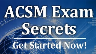 ACSM Exam Secrets -  Free Fat Facts