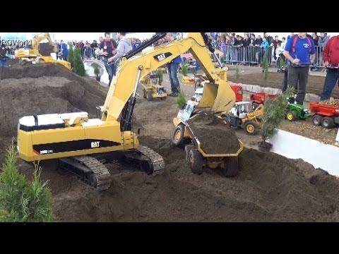 RC Trucks Construction Site Excavator Baustelle Bagger LKW ♦ Faszination Modellbau Friedrichshafen