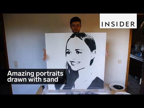 Sand portraits