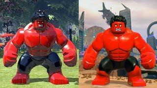 Evolution of Red Hulk (Boss Battle) in LEGO Marvel Games