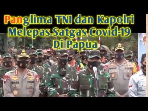 Panglima TNI dan Kapolri Lepas Satgas Pendisiplinan Protokol Covid-19 di Jayapura