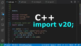 Demo: C++20 Modules