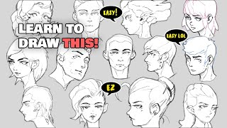 HOW TO DRAW SIMPLE FACES (easy)