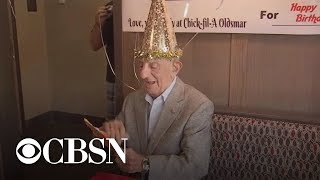 Man who loves Chick-fil-A gets surprise 100th birthday party from staff