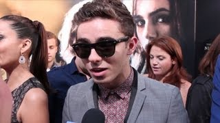 "NATHAN SYKES TALKS ARIANA GRANDE DUET ""ALMOST IS NEVER ENOUGH"" & ""WE OWN THE NIGHT"" VIDEO"