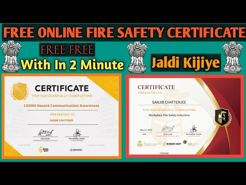 Fire Safety Certificate | Free Online Certificate | Training - YouTube