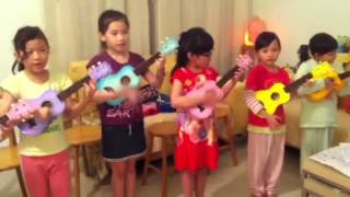 "Ukulele Sunshine Kids on ""You are my Sunshine"" (Thursday 13/9/12)"