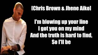Chris Brown Drunk Texting ft  Jhene Aiko Lyrics