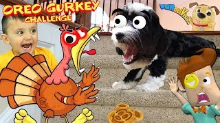 PUPPY vs STAIRS! OREO GURKEY TURKEY CHALLENGE + SONG (FUNnel Family Music Video Vision)