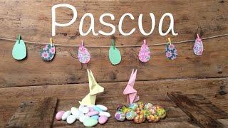 Manualidades para PASCUA: Cómo hacer GUIRNALDAS de papel con forma de huevos de pascua