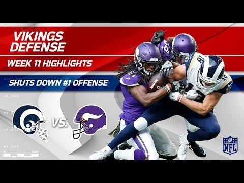 Minnesota's Defense Shuts Down #1 Ranked LA Offense!   Rams vs. Vikings   Wk 11 Player HLs