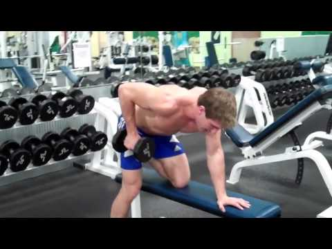 Single Arm Dumbbell Kickback (on Bench)