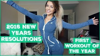 2016 New Years Resolutions | First Workout of the Year