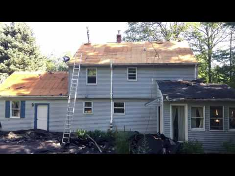 A full time lapsed roof replacement from Coventry, CT.